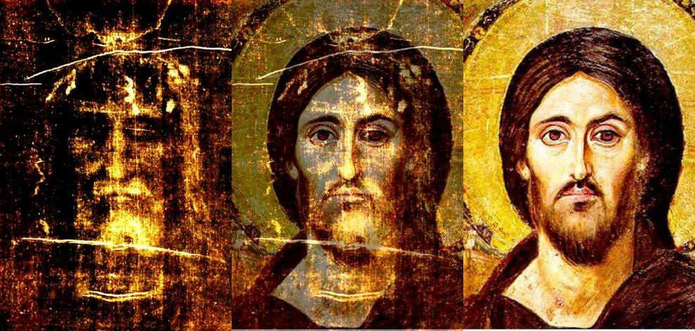 9. Сравнение изображения на Туринскои Плащанице с иконои Спасителя Синаиского